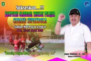 Siang Sabtu, Bupati Amril Mukminin Buka Kompetisi Olahraga di Stadion Pokok Jengkol Duri