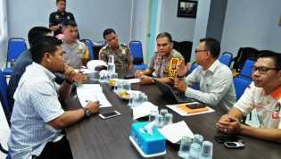 KPU Bengkalis Gelar Rakor bersama Kapolres dan Bawaslu