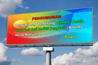 Pengumuman Pemenang dan Launching Logo Hari Jadi ke-506 Bengkalis, Ditunda