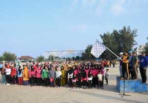 Polres Bengkalis Gelar Gerak Jalan Santai dan Senam Bersama