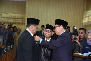 Ketua DPRD Bengkalis Resmi Lantik Zuhandi Sebagai PAW DPRD Bengkalis