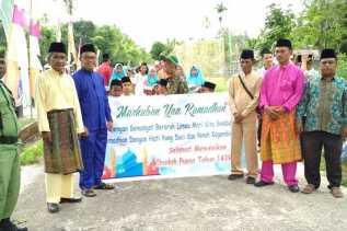 Warga Simpang Baru Teluk Latak Adakan Pawai Sambutt Bulan Suci Ramadhan 1439 H