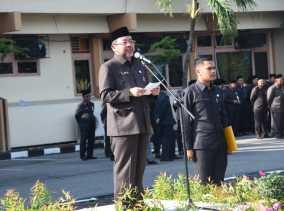 Sekda H Bustami HY Pimpin Upacara Harkitnas ke-110