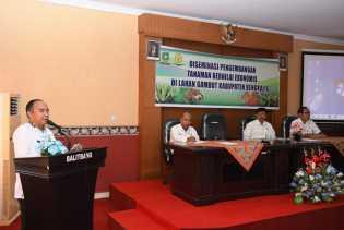 Kepala Balitbang Bengkalis Buka Kegiatan Diseminasi Pengembangan Tanaman Lahan Gambut