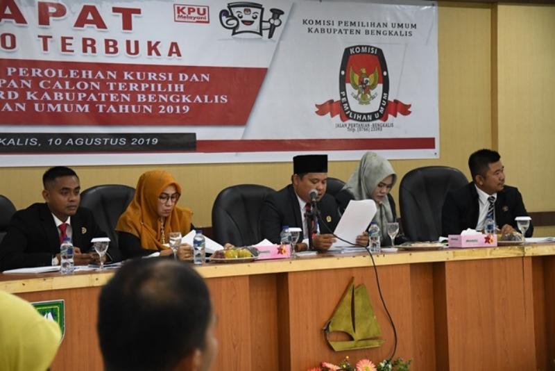 KPU Bengkalis Gelar Rapat Pleno Terbuka