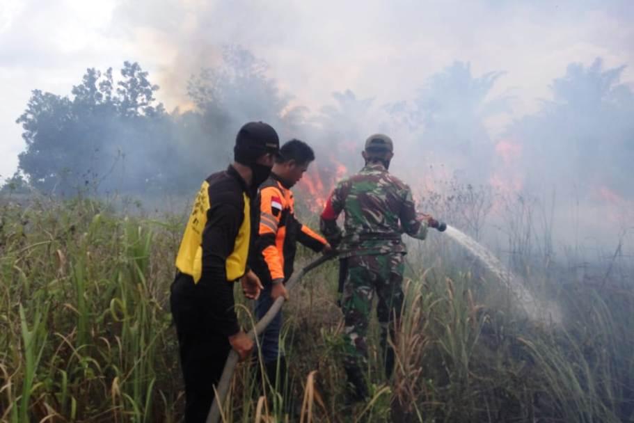 Air Sulit, Pemadaman Karhutla di Kelurahan Terkul Kecamatan Rupat Terhambat