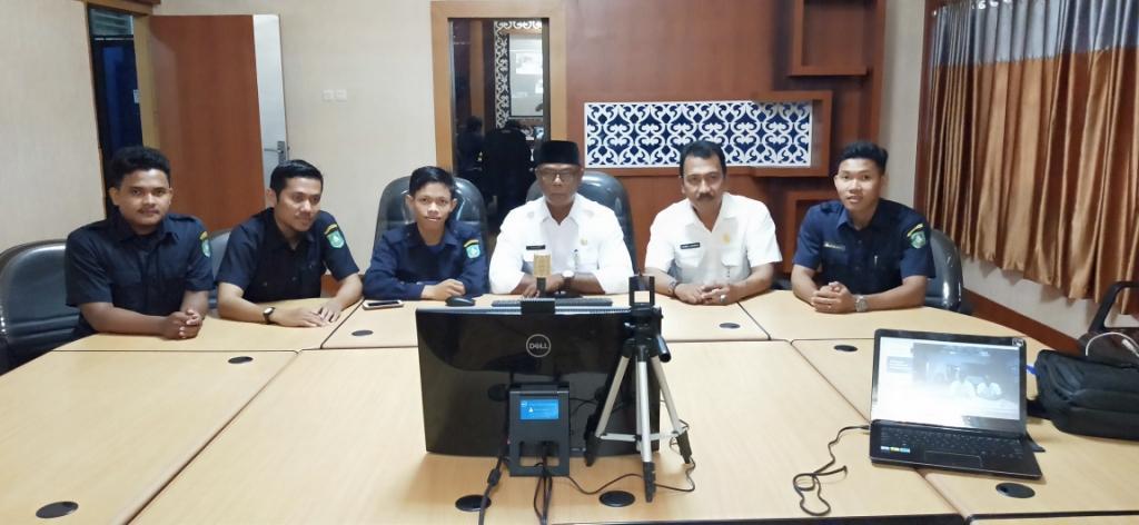 Uji Coba Video Conference Pemkab Bengkalis dengan Provinsi Riau Lancar