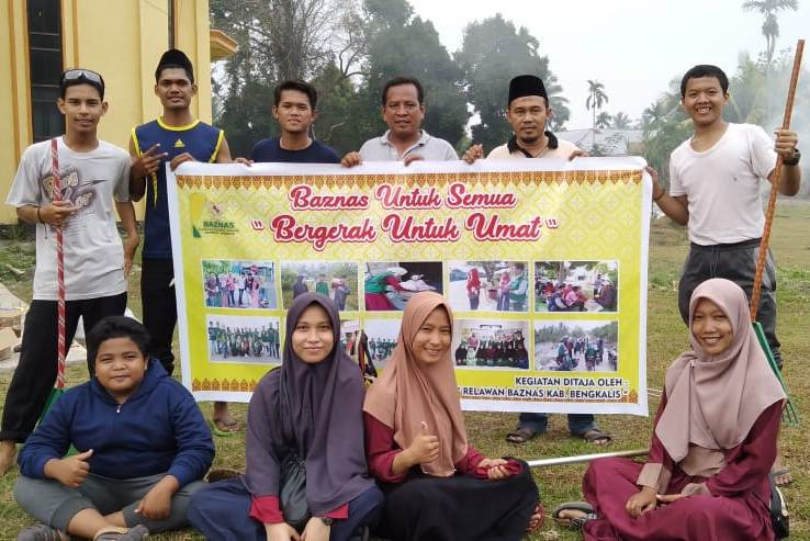 Di Desa Pangkalan Batang, Relawan Baznas Adakan 2 Kegiatan Sekaligus