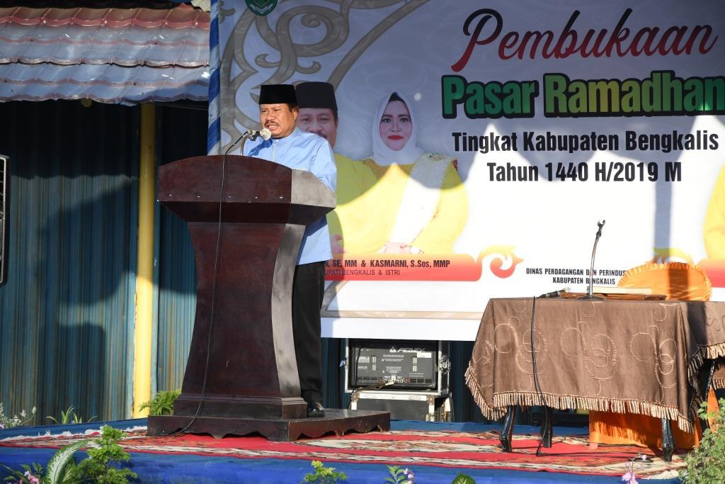Bupati Amril Buka Pasar Ramadhan Tingkat Kabupaten Bengkalis