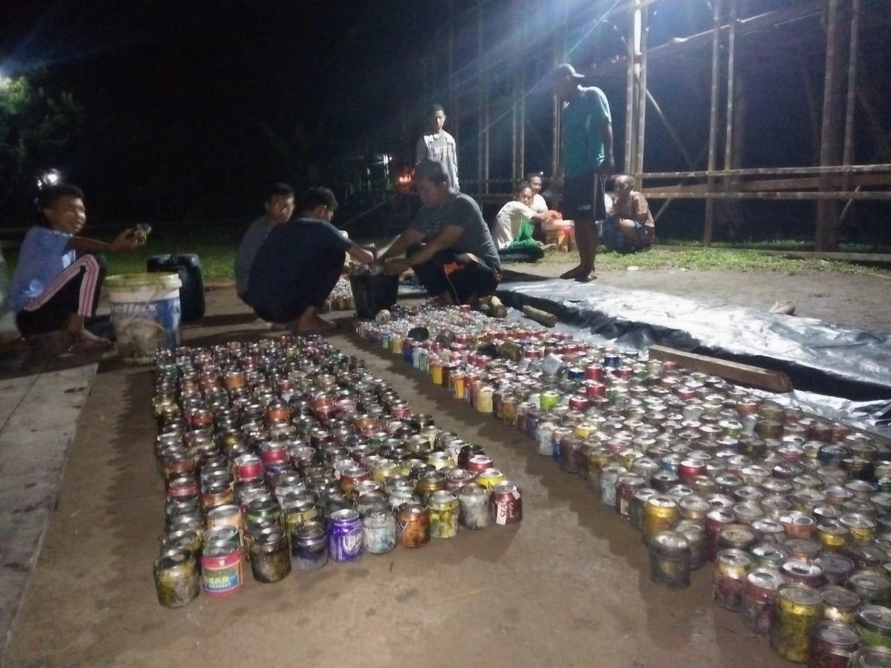 Meriahkan Malam Tujuh Likur Ramadhan, Pemuda Pedekik Siapkan 3700 Kaleng Damar