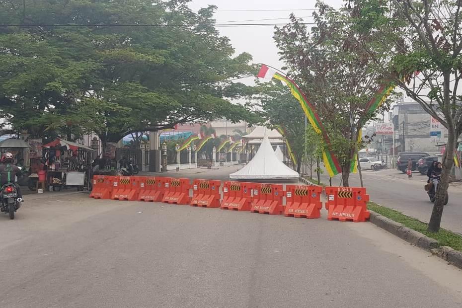 Pembangunan Stand Bazar MTQ Dimulai, Ruas Jalan Sudirman Ditutup Sebagian