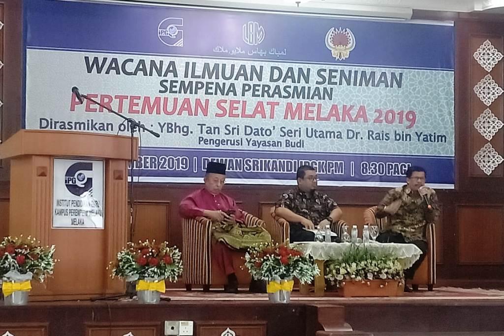 Muhammad Isa Selamat Jadi Narasumber Pertemuan Penyair Selat Melaka