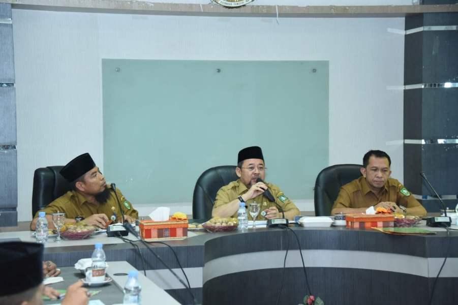Sekda H Bustami HY Langsung Pimpinan Rapat Penyusunan LKPJ Bupati Bengkalis 2018