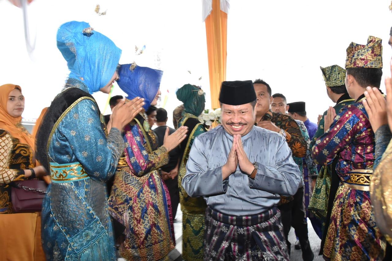 Bupati Bengkalis Amril Mukminin Hadiri Peresmian Jembatan Mahrum Bukit dan Dua Fly Over Pekanbaru