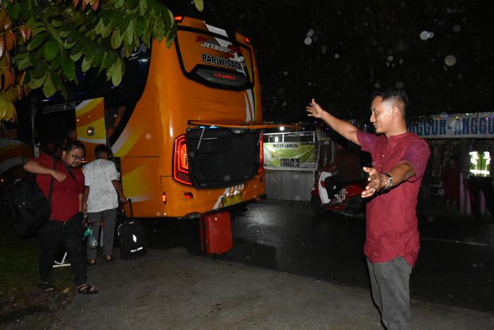 Disambut Guyuran Hujan, Kafilah Bengkalis Tiba di Bangkinang Pukul 18.15 WIB