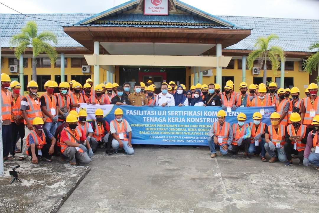 Balai Jasa Konstruksi Wilayah I Banda Aceh Gelar Sertifikasi Tenga Kerja Di Bantan