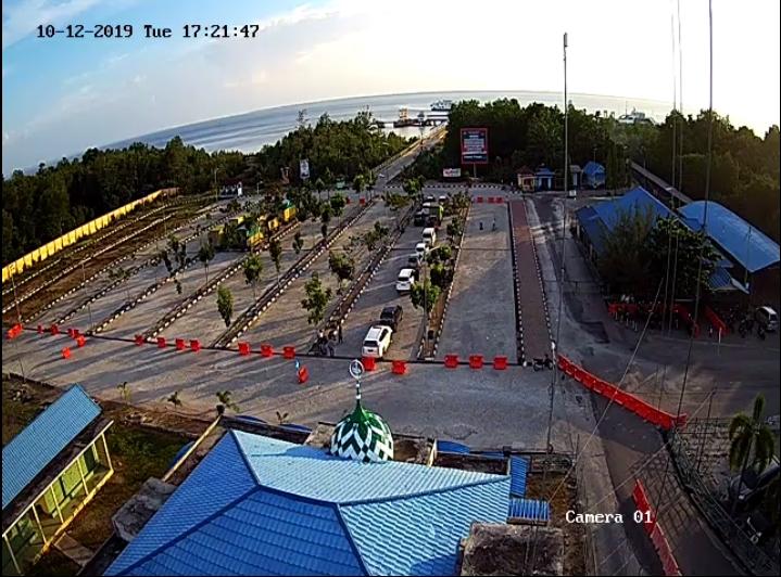 Pemandangan di RoRo dipantau dari CCTv