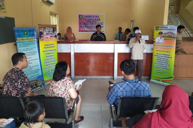 Peluncuran SPTPD Daring di UPT Pendapatan Daerah di Duri, Kecamatan Mandau (rri.co.id)